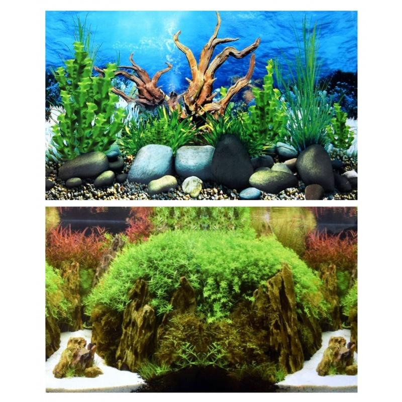 aquarium r ckwandfolie 200 x 30 40 50 60 cm beidseitig. Black Bedroom Furniture Sets. Home Design Ideas