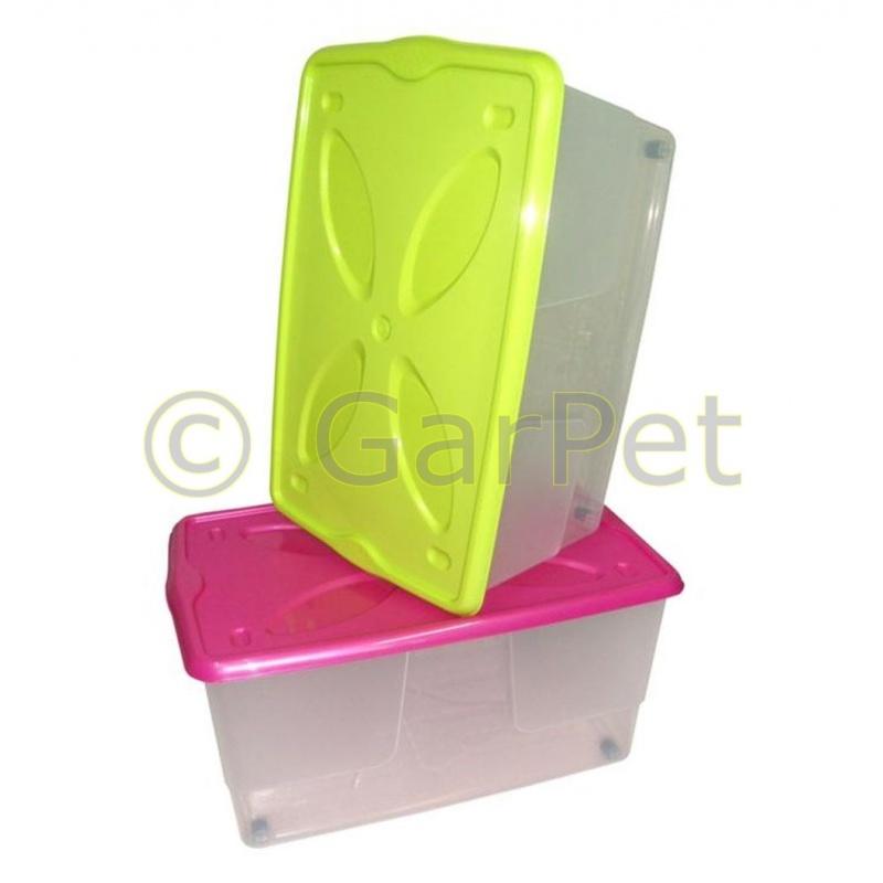 Aufbewahrungsbox mit Deckel Rollen stapelbar günstig