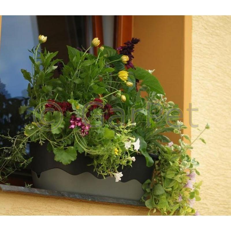 blumenkasten mit wasserspeicher balkonkasten modern. Black Bedroom Furniture Sets. Home Design Ideas