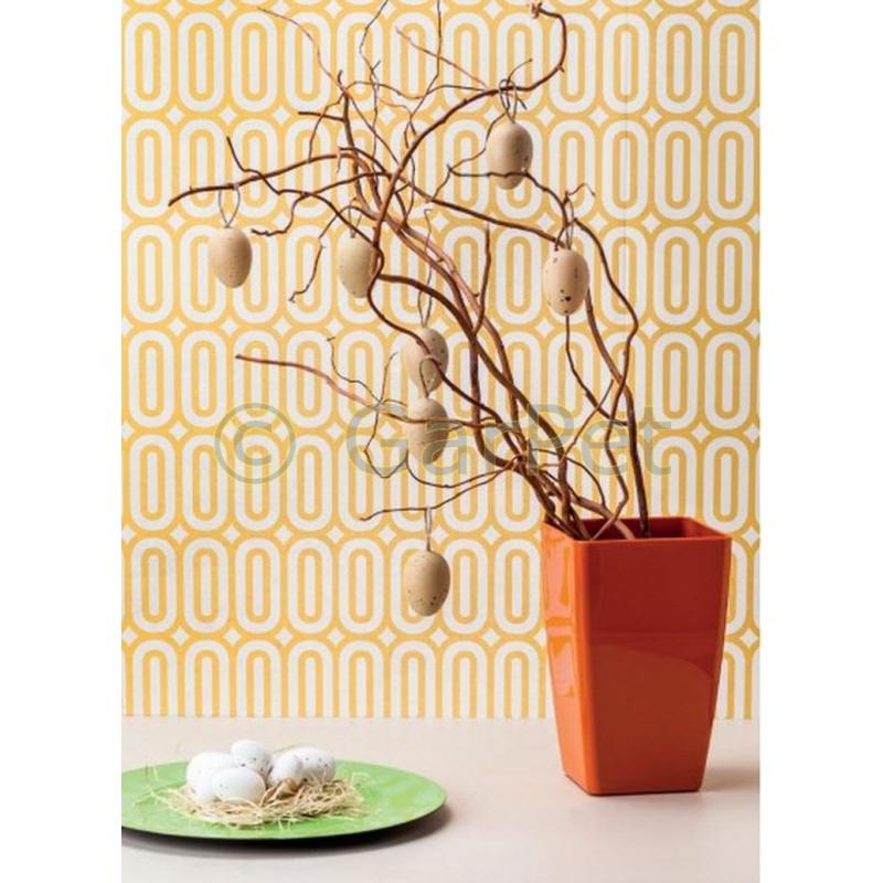 Blumentopf mimosa wasserstandsanzeiger elegant hochglanz for Moderner gartenteich eckig