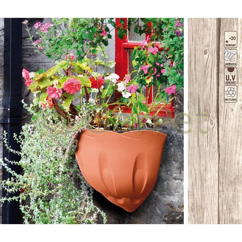 Blumentopf Wand Wandgefass Wandampel Wandtopf Terrakotta 3 55
