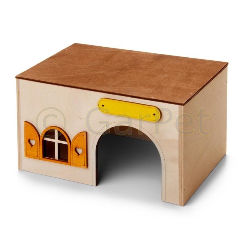 meerschweinchenhaus gro aus holz g nstig kaufen 6 25. Black Bedroom Furniture Sets. Home Design Ideas
