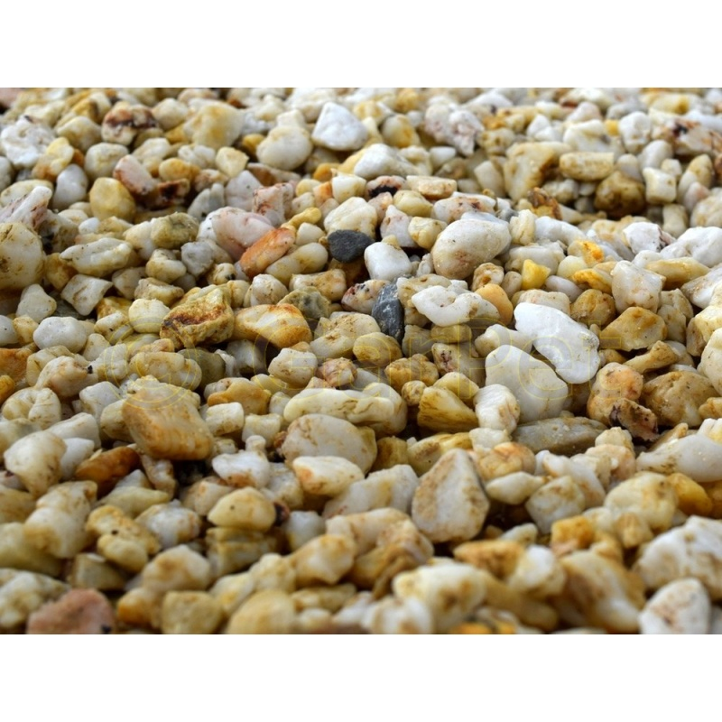 Quarzkies gelb garten teich aquarium kiesel stein for Gartenteich aquarium