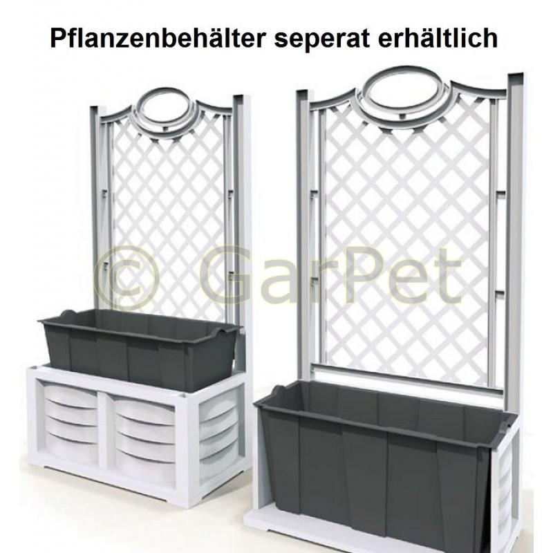 Schön Pflanzkübel Mit Rankgitter Zeitgenössisch - Wohnzimmer ...
