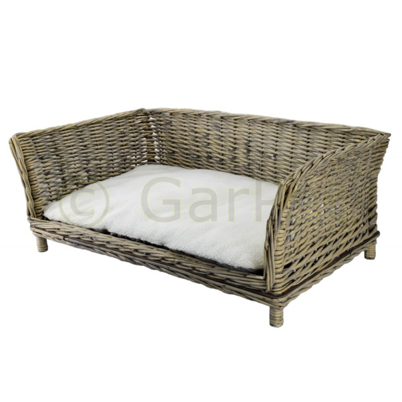 hundesofa eckig weide rattan g nstig kaufen. Black Bedroom Furniture Sets. Home Design Ideas