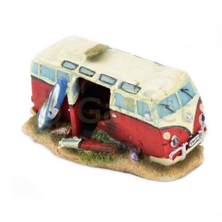 Aquarium Deko Transporter Hippie Bus